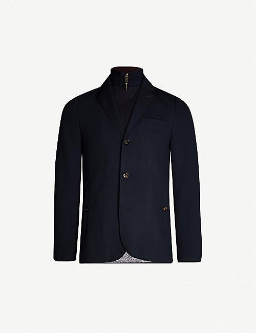 164797fbd53329 TED BAKER - Toastie herringbone jersey jacket