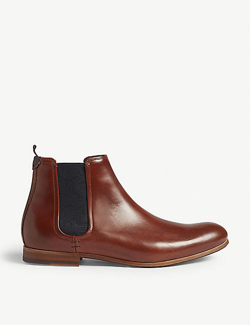 TED BAKER: Whron leather Chelsea boots