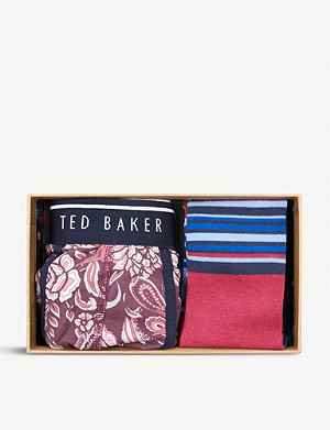 TED BAKER Slip cotton boxer and socks set