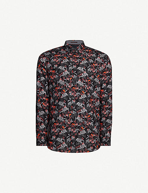 7ba7c7d010 TED BAKER Thefern foliage-print cotton shirt