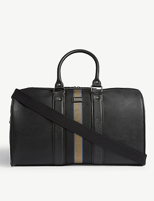 TED BAKER Striped polyurethane holdall