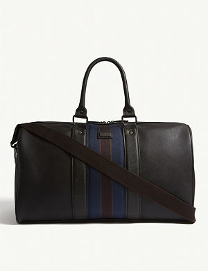 TED BAKER - Potts perforated leather holdall  e6206413d76ab