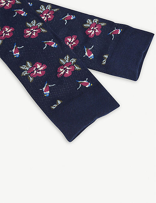 TED BAKER Fittipa cotton-blend socks gift set of three