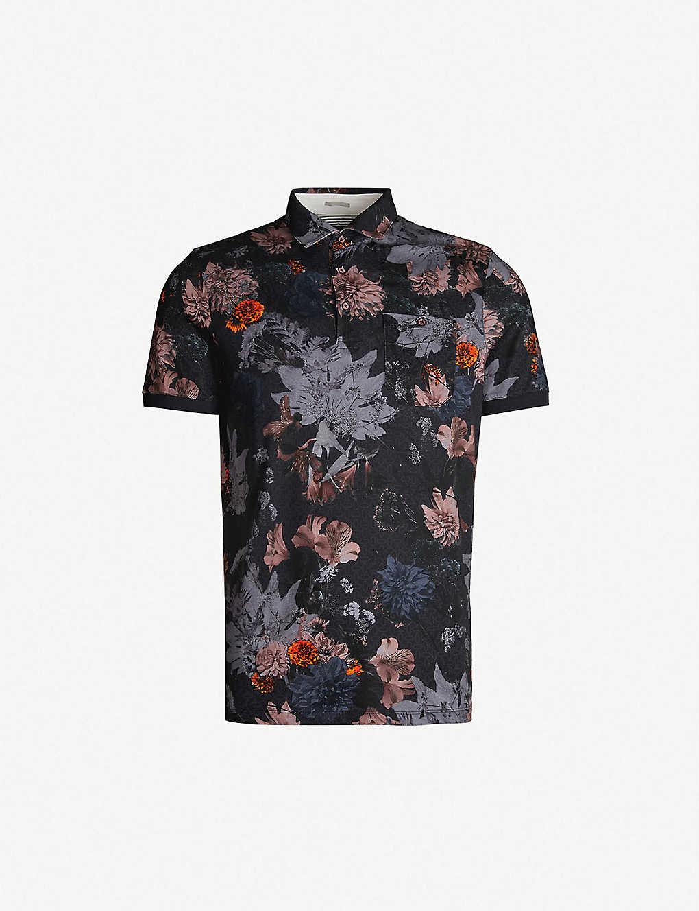 b4403a64d TED BAKER - Amir floral-print cotton polo shirt
