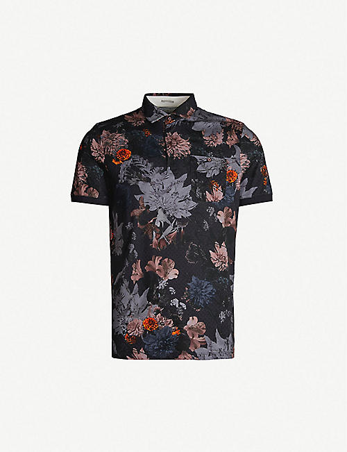 4c74c866a TED BAKER Amir floral-print cotton polo shirt