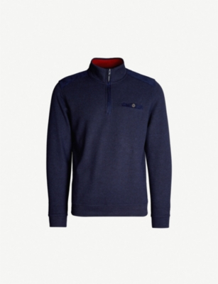 TED BAKER Decc funnel neck brushed jersey jumper
