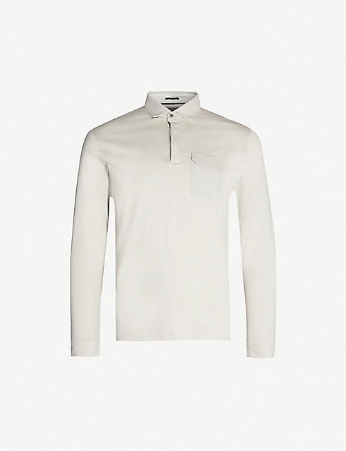 2fce7846607b4 TED BAKER Python long-sleeved cotton-jersey polo shirt