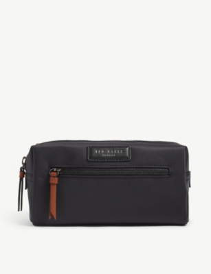 TED BAKER Blueye satin nylon wash bag