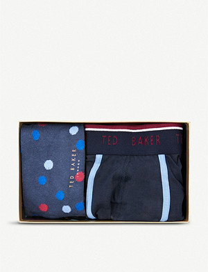 TED BAKER Surfer cotton boxer and socks set