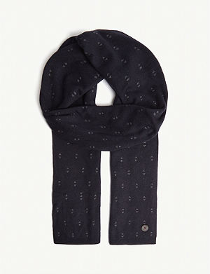 056a96b21776a TED BAKER May geometric print knitted scarf