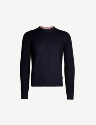 TED BAKER Trull textured sleeve cotton-blend jumper