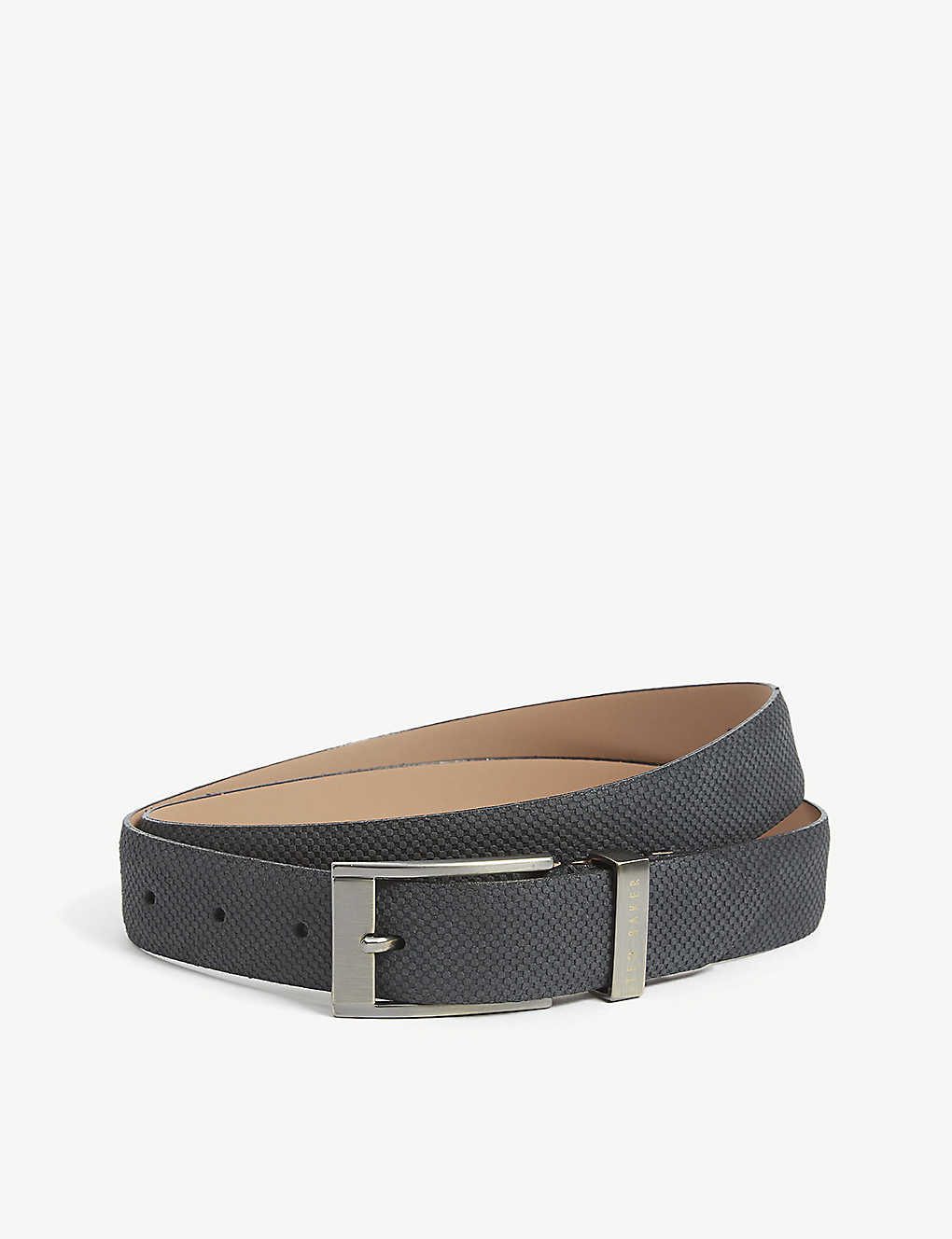 TED BAKER: Rubberised leather belt