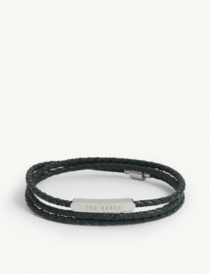 TED BAKER Basser triple wrap leather bracelet