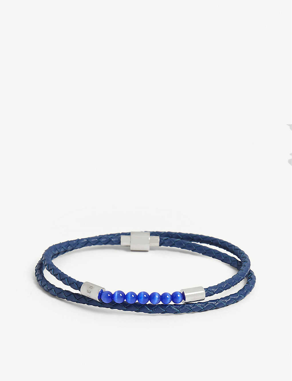 46f1569d5e8a TED BAKER - Beeder leather wrap bracelet