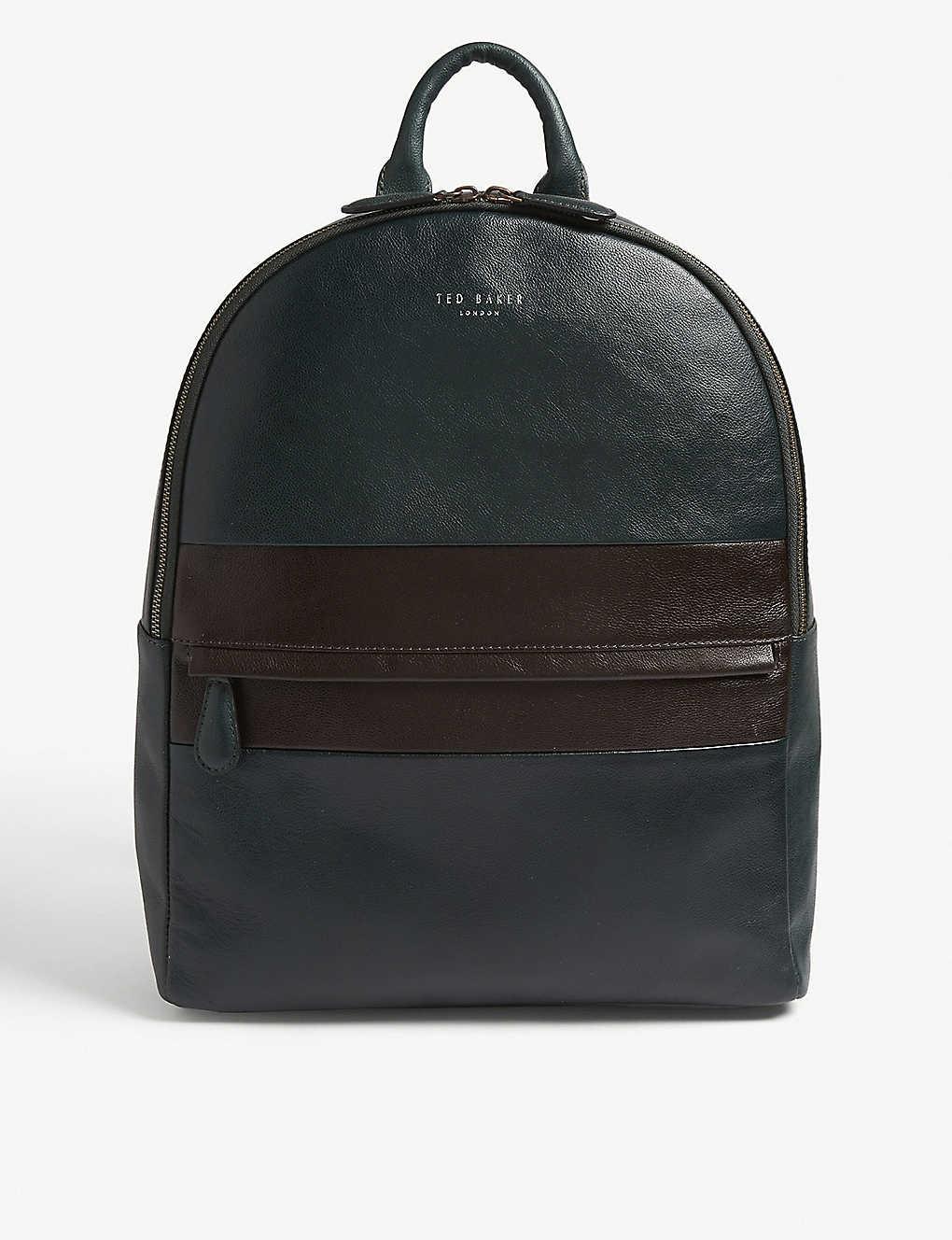 f1c67a9639c TED BAKER - Vivaldi striped leather backpack | Selfridges.com