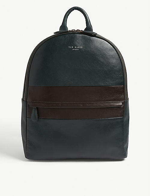 8fad89f89 TED BAKER Vivaldi striped leather backpack