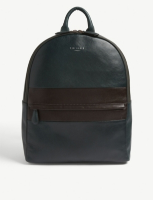 TED BAKER Vivaldi striped leather backpack