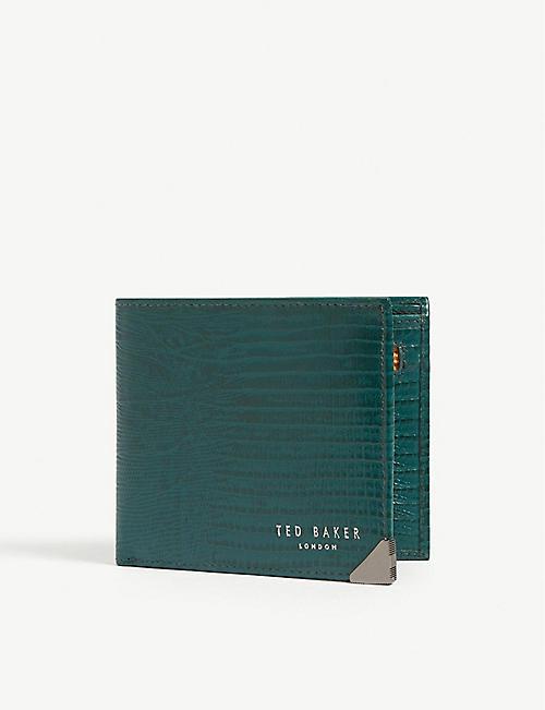 6724e1eeb TED BAKER Croc-embossed bi-fold wallet