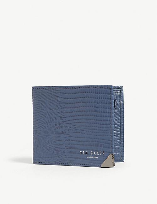 13616b33d7c TED BAKER Croc-embossed bi-fold wallet