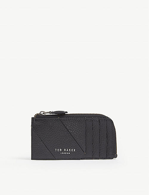 b5d30838c TED BAKER Fitcard grained leather card holder