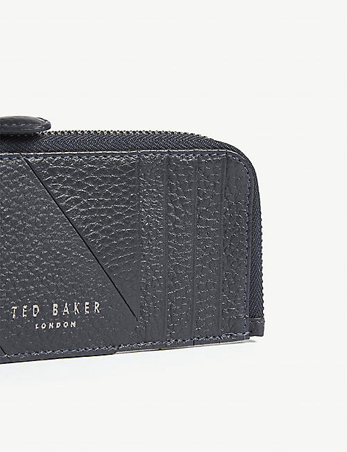 TED BAKER Fitcard grained leather card holder