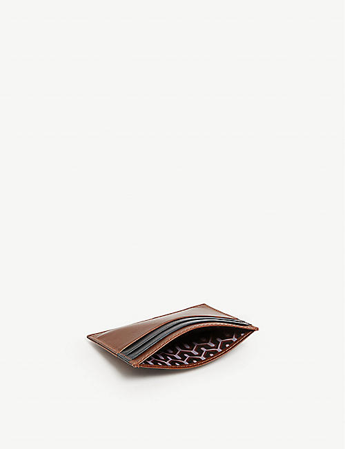 TED BAKER Stocard contrast stripe leather card holder