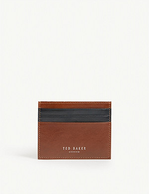 3c86ae79f TED BAKER · Stocard contrast stripe leather card holder