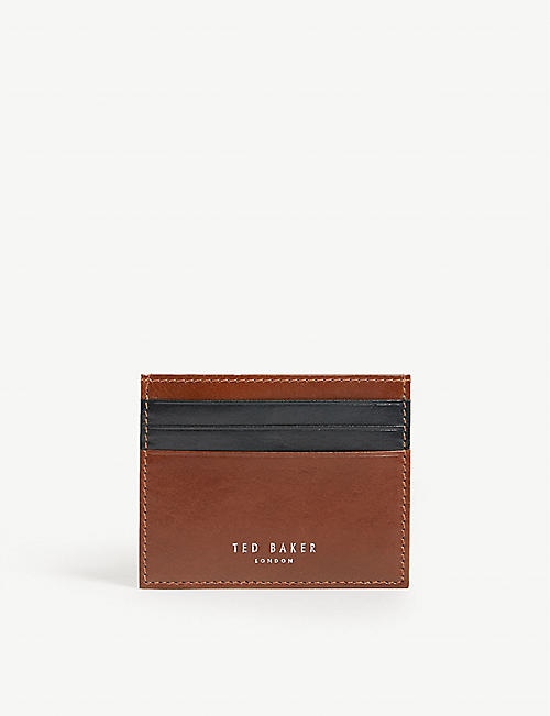 615e391d9 TED BAKER Stocard contrast stripe leather card holder