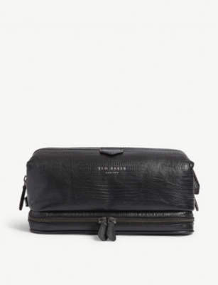 TED BAKER Bublay lizard-embossed leather washbag