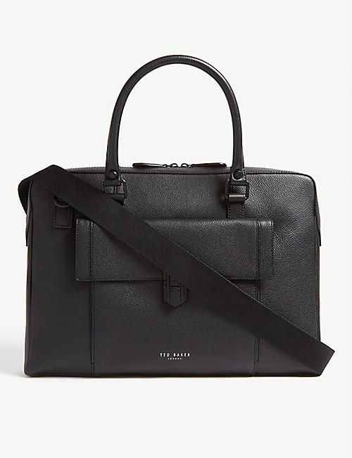 TED BAKER: Grained leather document bag