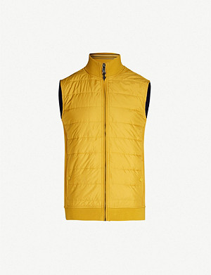 TED BAKER Flie quilted shell and jersey gilet