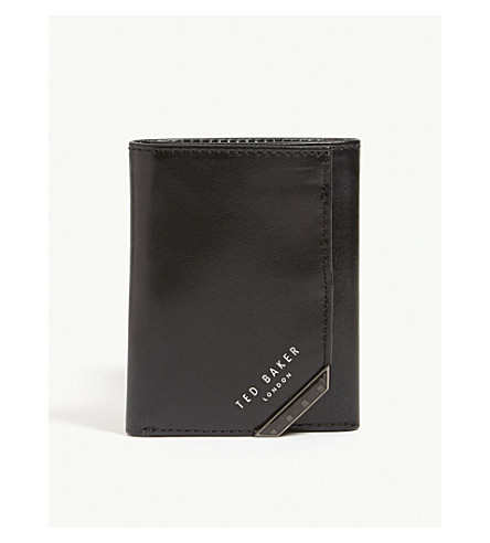 eacd9189fab0 TED BAKER - Triboo carbon fibre tri-fold leather wallet