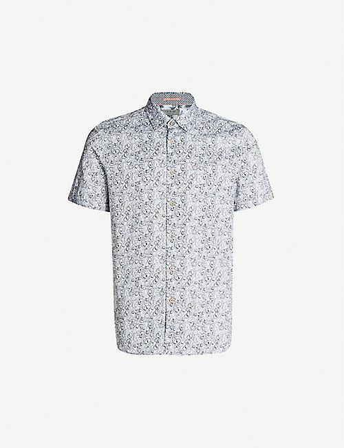 923a1ea97bd6 TED BAKER Buffilo regular-fit botanical print shirt