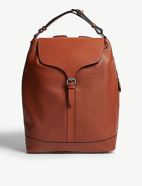 TED BAKER Rusted leather backpack