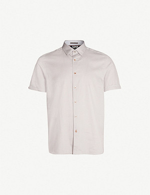 TED BAKER Mongoo geometric-print cotton shirt
