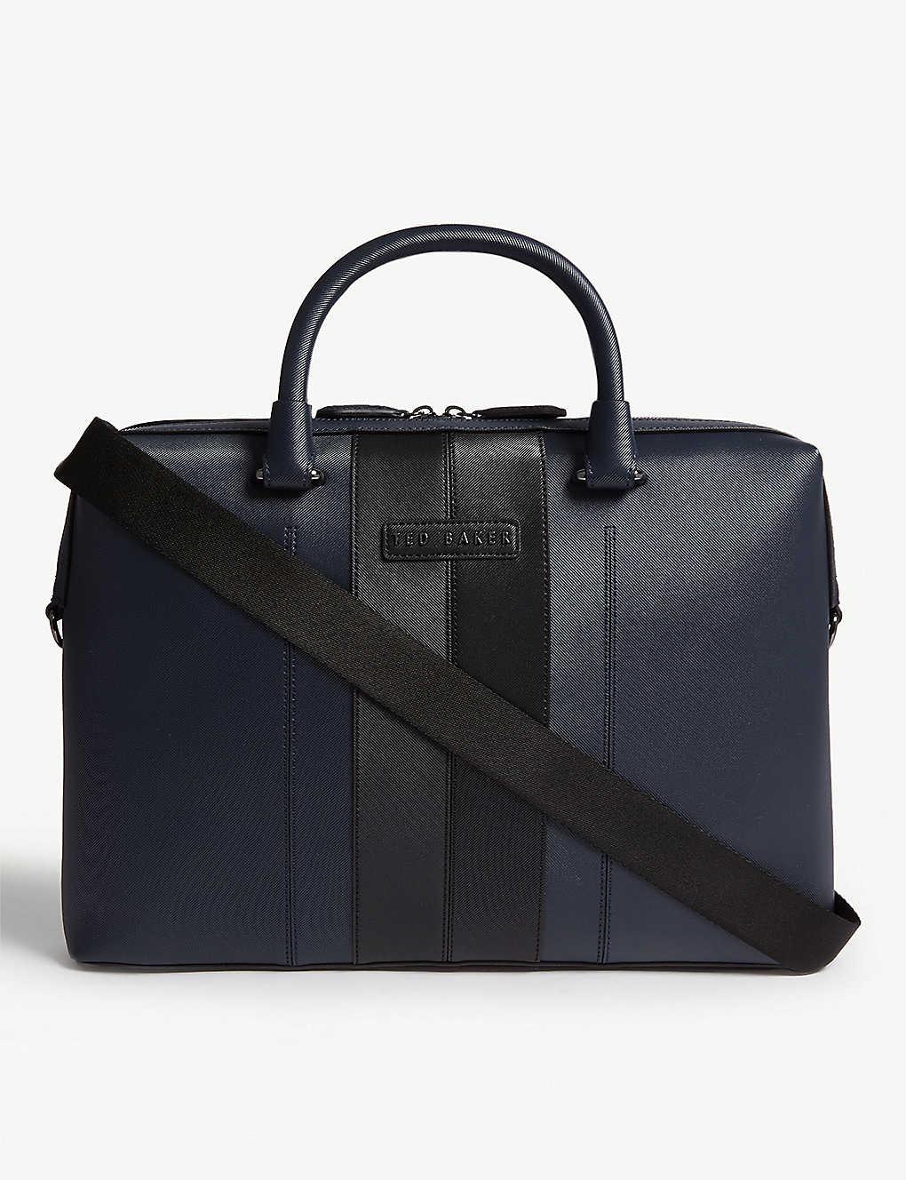e4071dcfdd TED BAKER - Vin twill document bag | Selfridges.com