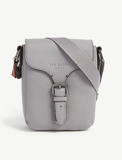 TED BAKER Voodoo leather mini flight bag