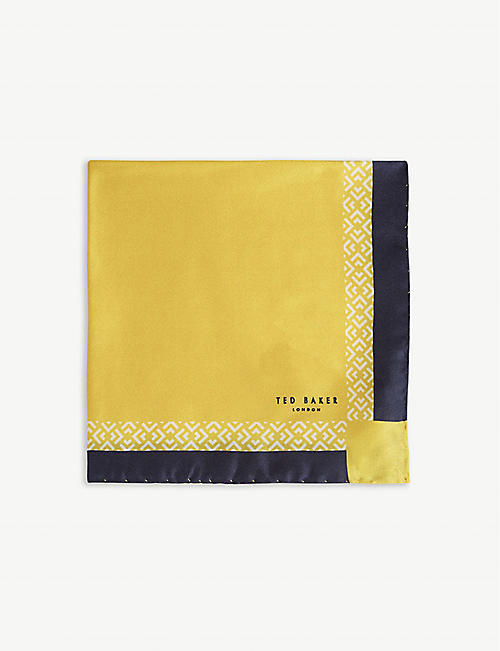 TED BAKER Silk pocket square