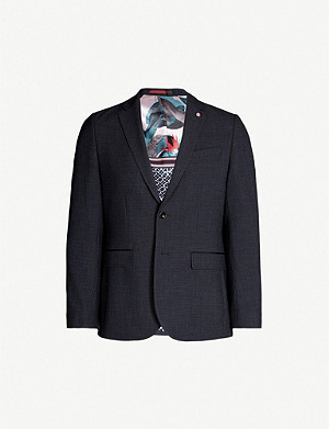 TED BAKER Groove slim-fit mini check jacket