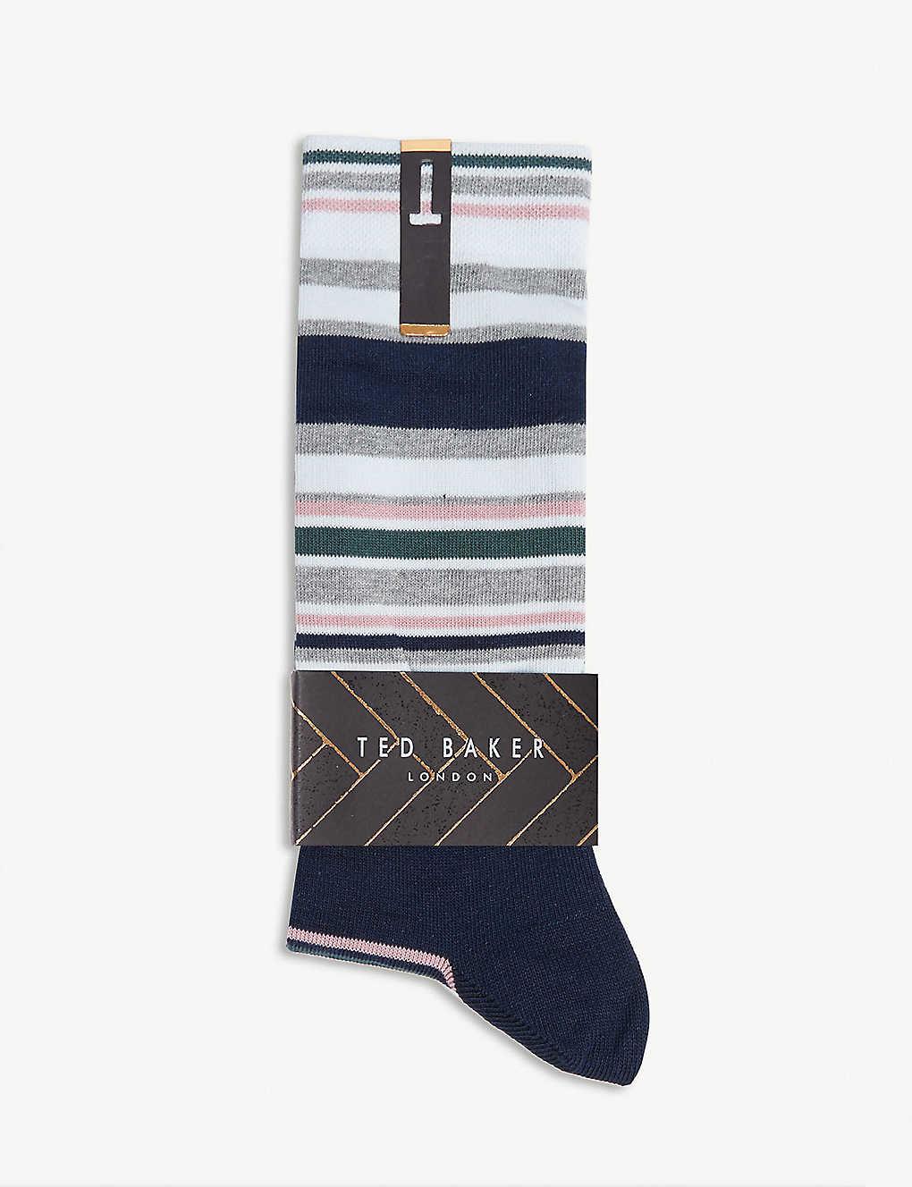 19c59feaba3 TED BAKER - Striped cotton-blend socks