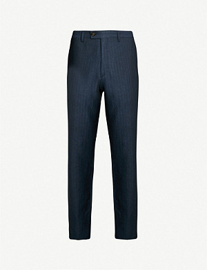 TED BAKER Balrtro modern-fit tapered woven trousers