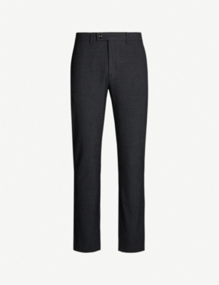 TED BAKER Grovtro slim-fit mini check woven trousers