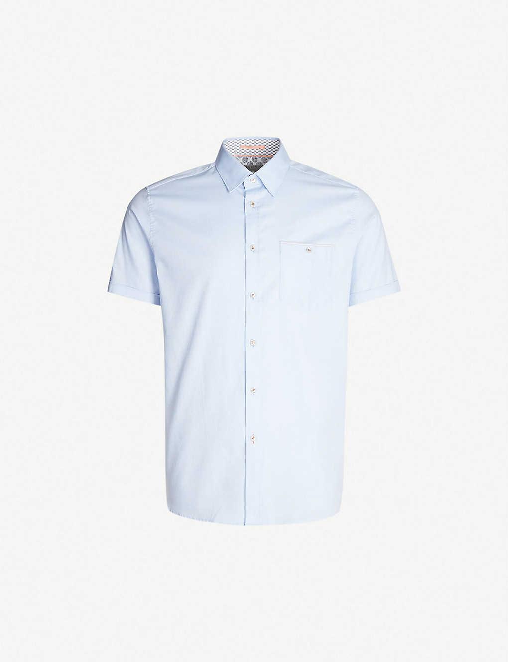ed3a0017 TED BAKER - Wallabi regular-fit cotton-pique shirt | Selfridges.com