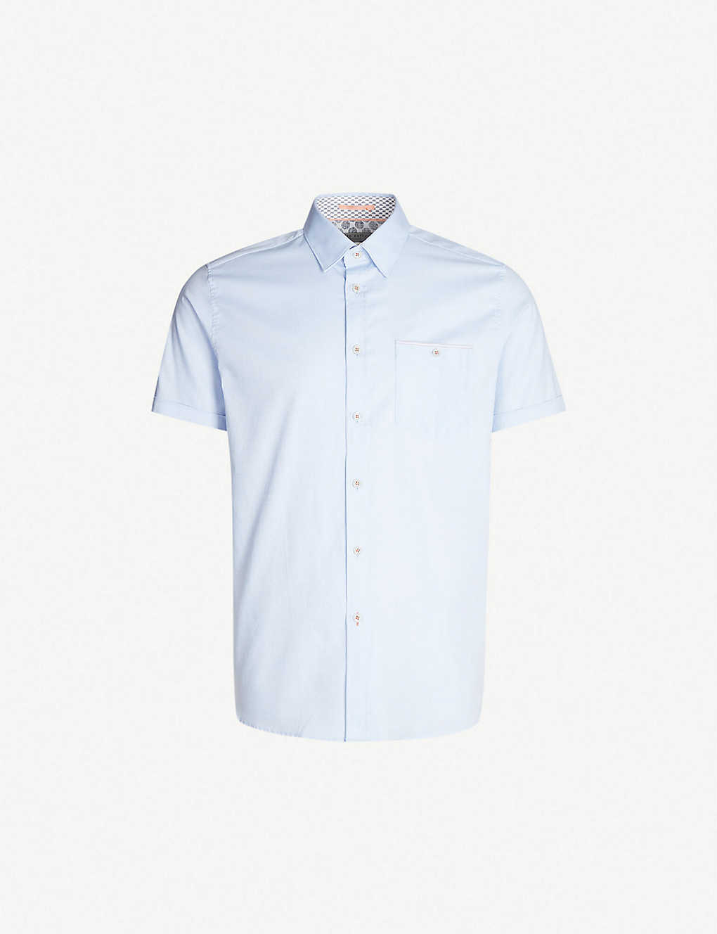 TED BAKER: Wallabi regular-fit cotton-pique shirt