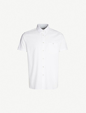 TED BAKER Wallabi regular-fit cotton-pique shirt