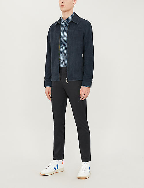 TED BAKER Whaale regular-fit geometric patterend cotton shirt