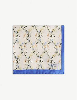 TED BAKER Small flower pocket square