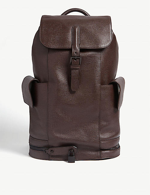 8d1f7d211 TED BAKER Eaton palmellato leather backpack