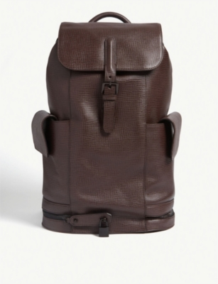 TED BAKER Eaton palmellato leather backpack