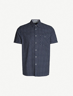 TED BAKER Polarbe slim-fit printed cotton shirt